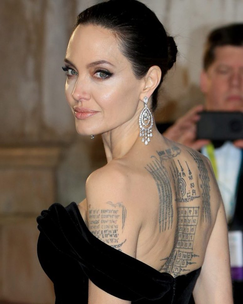 джоли татуировки