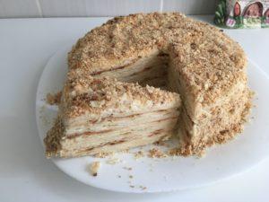 Торт Наполеон классический рецепт с заварным кремом