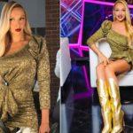 Оля Полякова напомнила Барби на съемках нового шоу