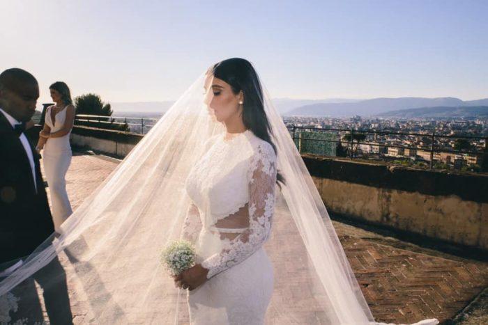 ким кардашьян свадебное платье