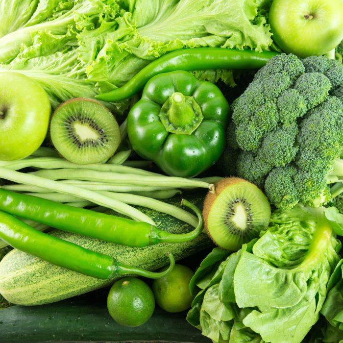 продукты зеленого цвета