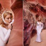 Тина Кароль снялась в яркой фотосессии в живописном каньоне Антилопа в Аризоне