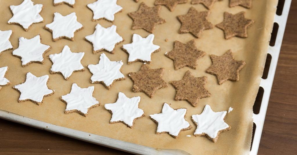 рецепт печенья звездочки с белой глазурью