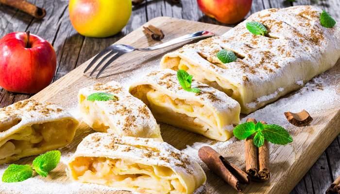 штрудель с яблоками рецепт