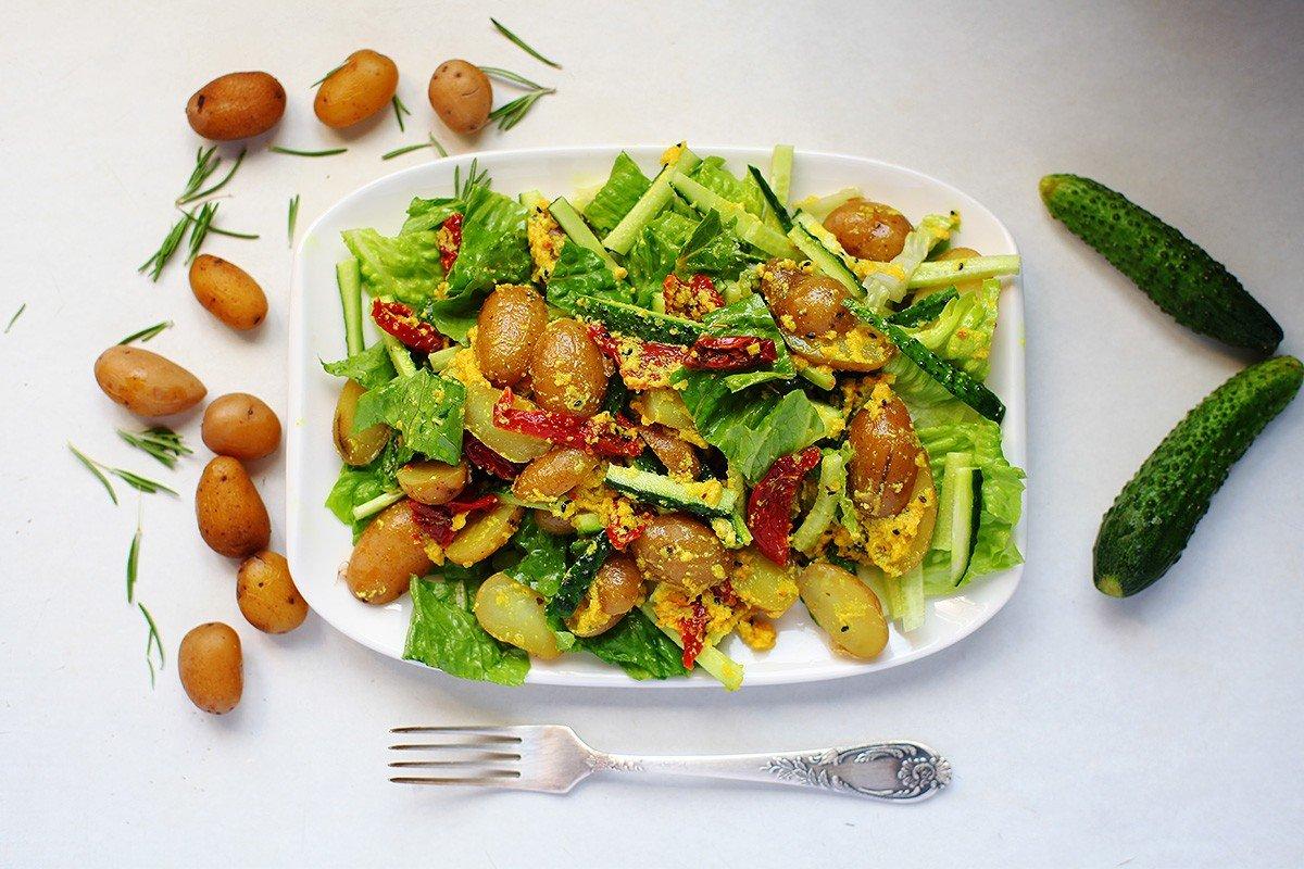 теплый салат с картофелем рецепт