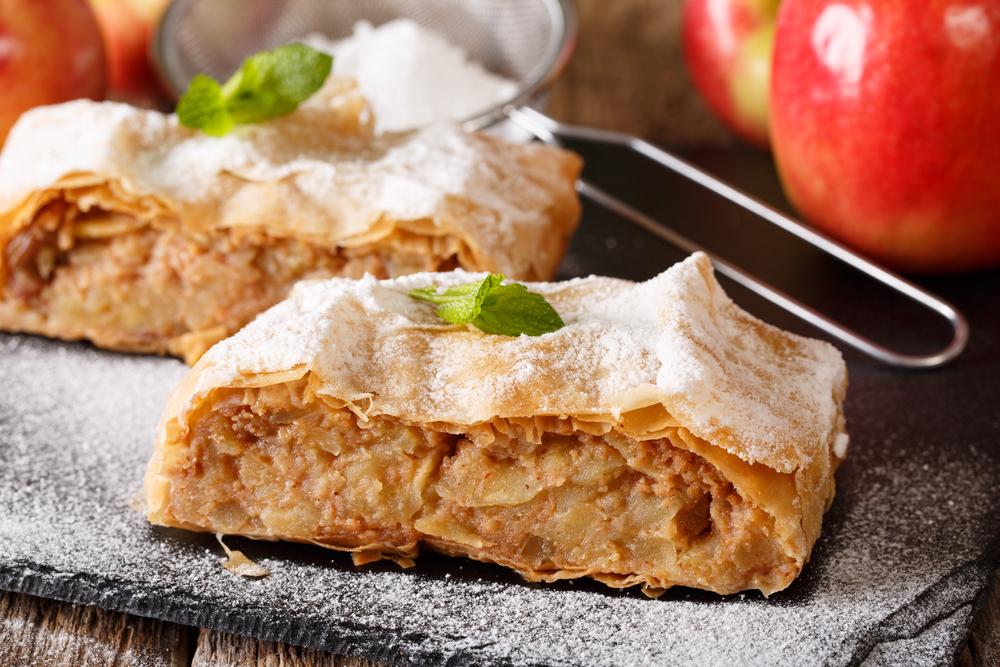 яблочный штрудель рецепт
