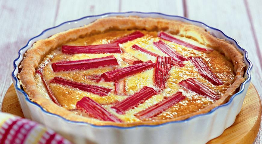 пирог с ревенем рецепт
