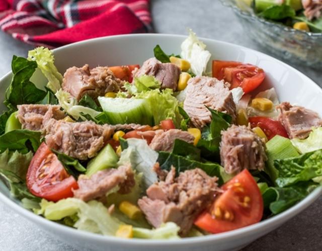 вкусный салат с тунцом рецепт