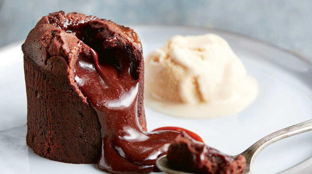 рецепт шоколадного фондана с жидкой