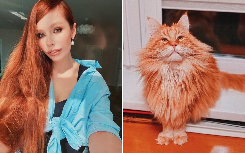 В преддверии Всемирного дня котов Соня Плакидюк рассказала о своем рыжем мейн-куне