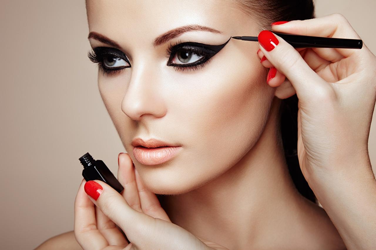 макияж для карих на новый год