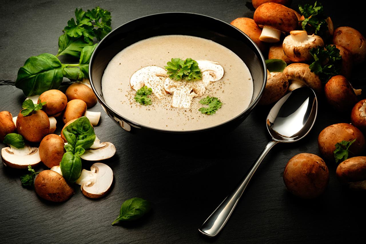 грибной крем суп на кокосовом молоке