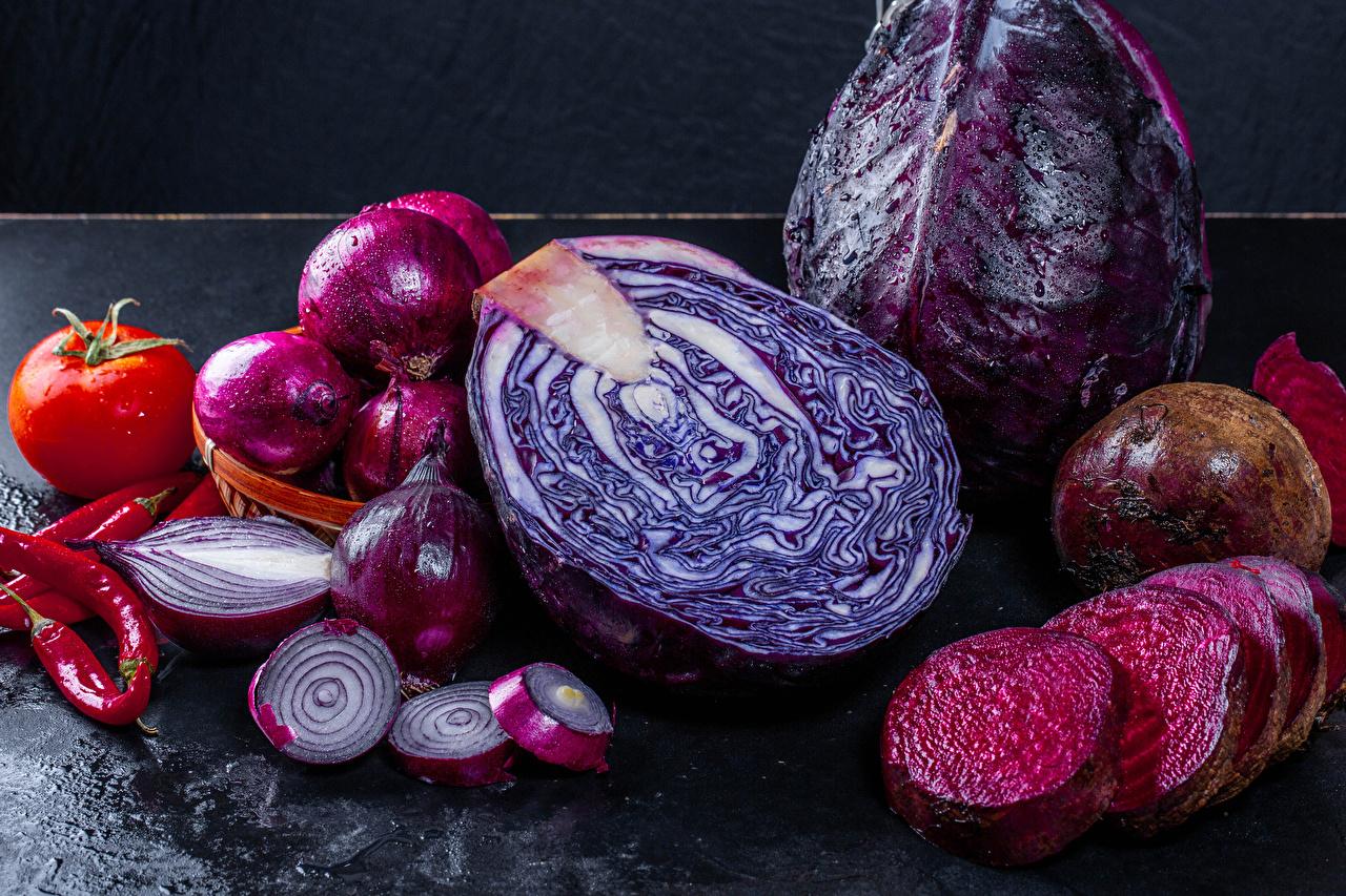 квашеная фиолетовая капуста