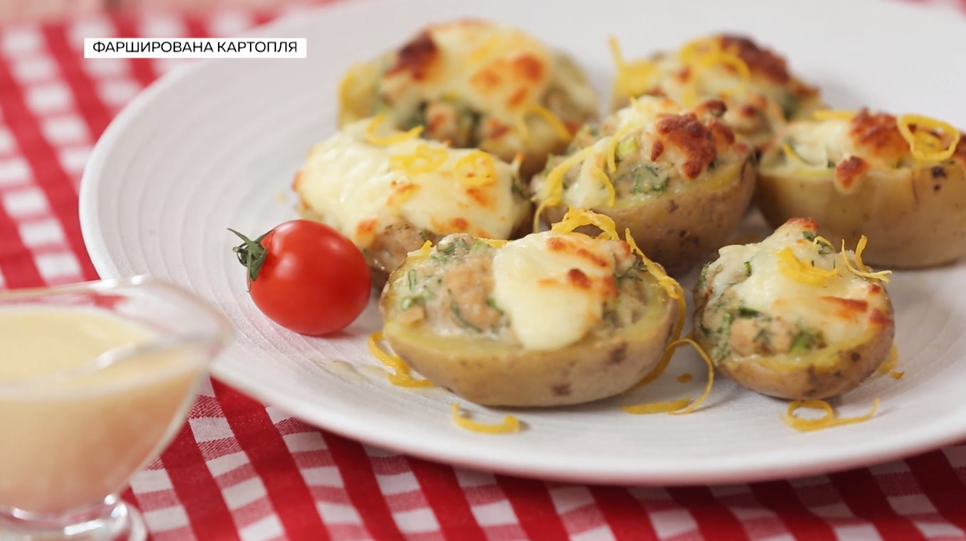 картофель фаршированный запеченный в духовке