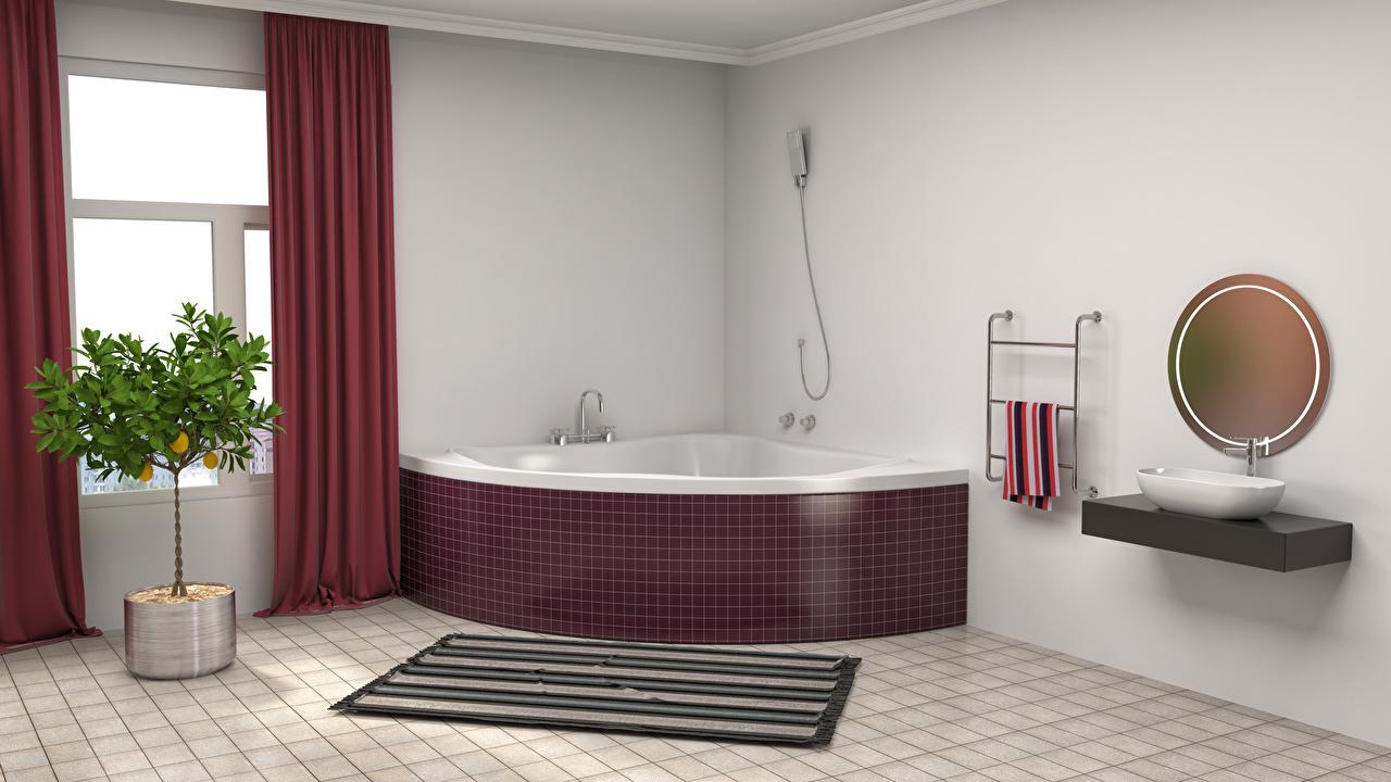 пространство в ванной комнате